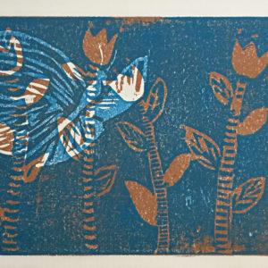 Schmetterling, Holzdruck, 2015