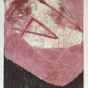 Rotes Dreieck, Monotypie, 2011