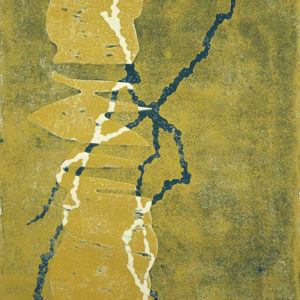 Wald, Holzdruck, 47,5 x 35,5 cm, 2020